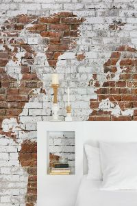 Mural Bricks Map White