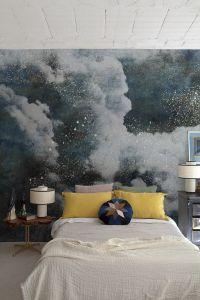 Mural Clouds Night