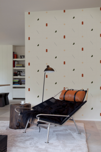 Shape Study Terracota wallpaper by Bobby Clark