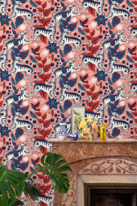 Selva de Tigres Pink wallpaper by Catalina Estrada