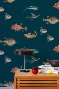 Peces Santamas Navy wallpaper by Joana Santamas