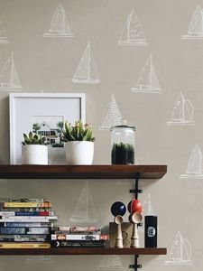 Eslora Beige wallpaper