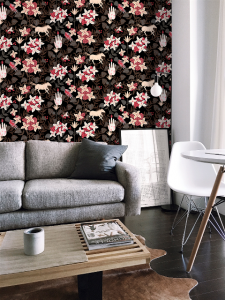 Neo-Flowery Black wallpaper