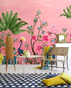Mural Neo-Tea Garden Pink
