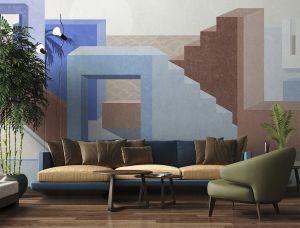Mural La Muralla Blue