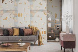 Mural Rostros Gold
