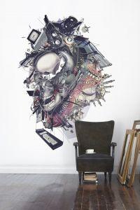 Destruction mural