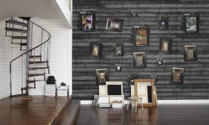 Wooden frames mural