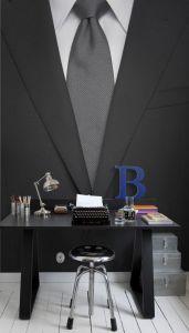 suit & tie mural