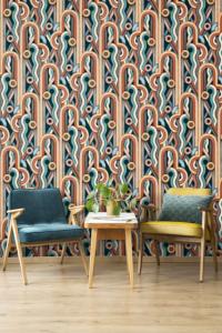 Caligrama Grey/Green wallpaper