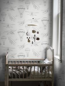 Bon Voyage White wallpaper