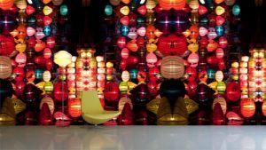 Chinese lanterns mural