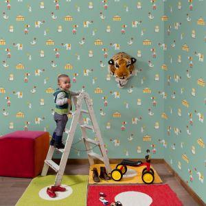 Circus Blue Wallpaper