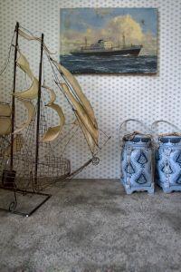 Gypsy pale blue wallpaper