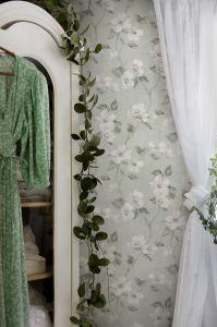 Helen´s Flower Turquoise wallpaper
