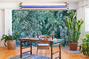 Mural Jungle Dream Mint Green by Lara Costafreda