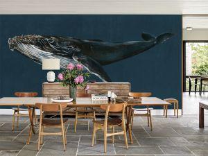 Mural Humpback Whale Ocean