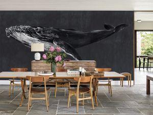 Mural Humpback Whale Night