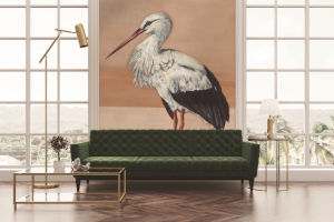 Mural Stork Mother Nude