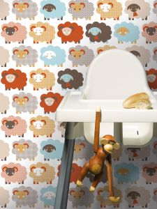 Multicolour Sheep Wallpaper