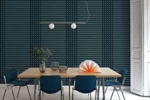 Grids Blue Wallpaper by Mut Design Studio