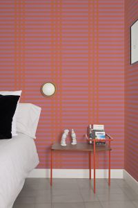 Grids Pink Wallpaper by Mut Design Studio