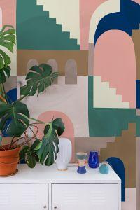 Mural Architopie Pink by Noémie Cédille