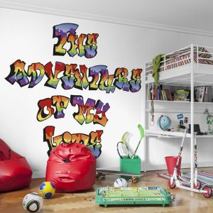 Mural graffiti tag