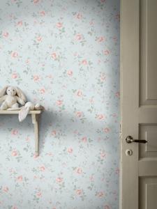Rose Garden Blue wallpaper