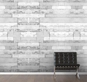 White grid mural