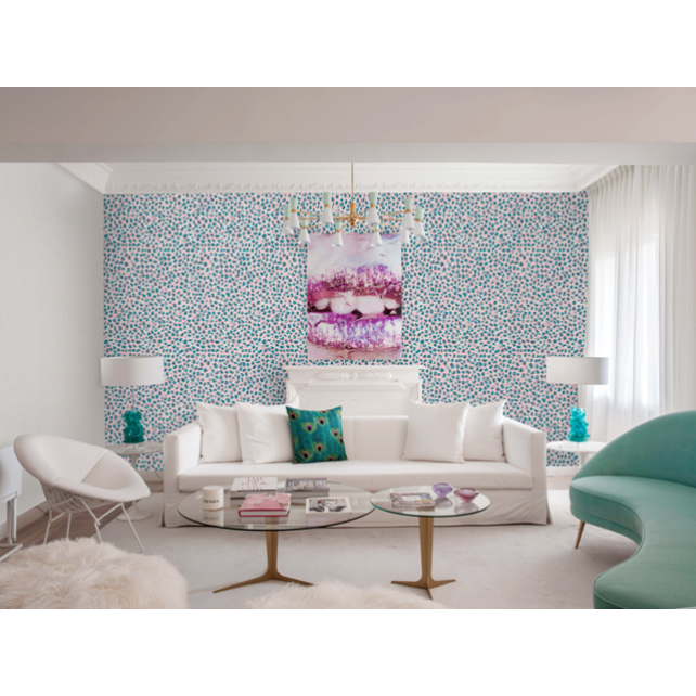 Brush Pink/Blue wallpaper