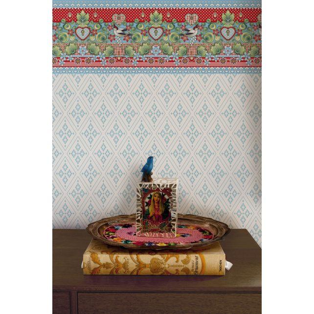 wallpaper, rhombus, blue