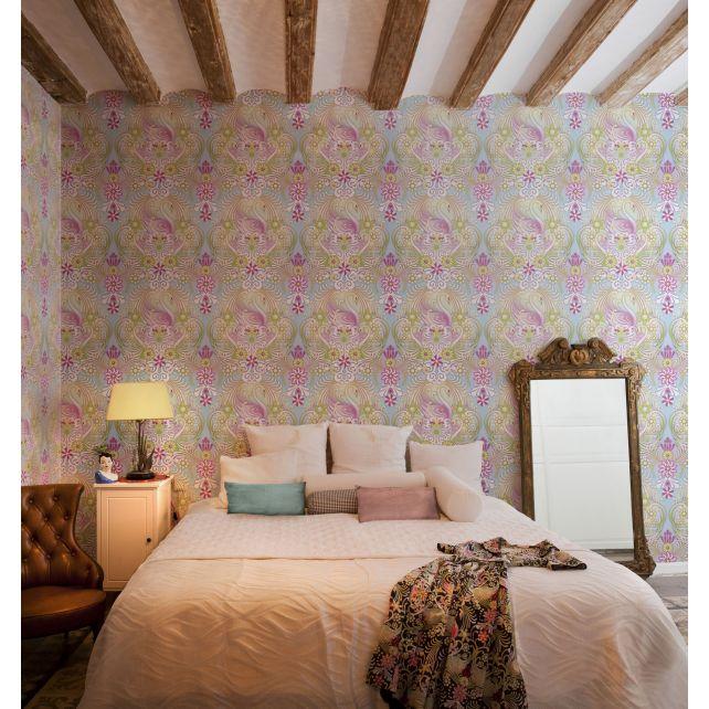 wallpaper,swans,Catalina,Estrada,gold,green