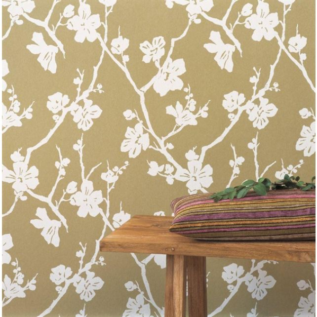 Lotus Chocolate Brown Wallpaper