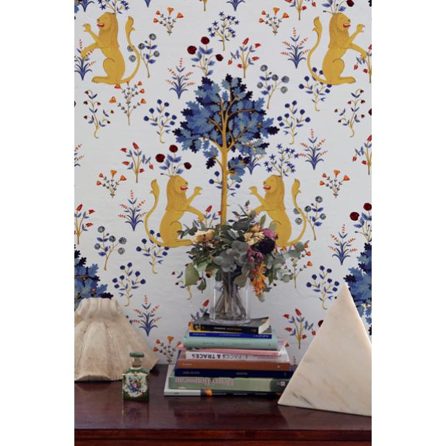 Medieval Tapestry White wallpaper by Brianda Fj Stuart