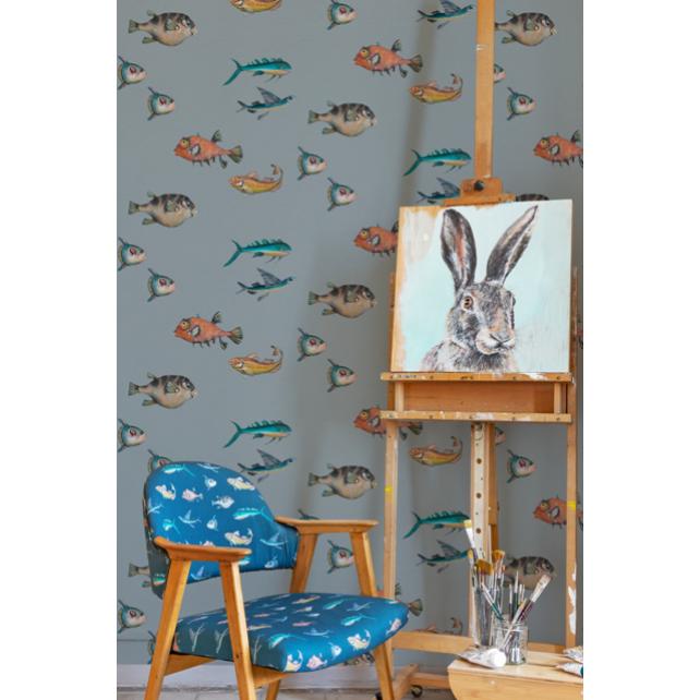 Peces Santamas wallpaper Grey by Joana Santamas