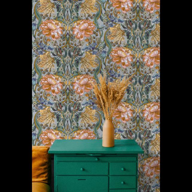 Belle-epoque Blue wallpaper