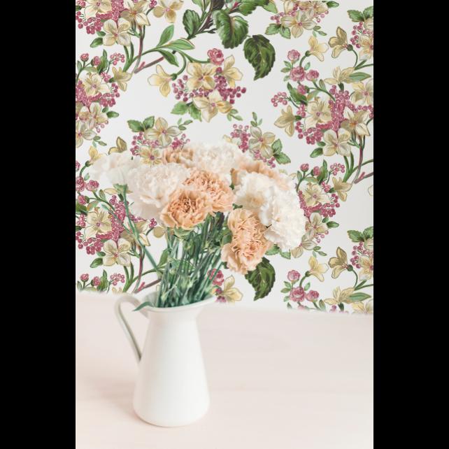 Flowery White wallpaper