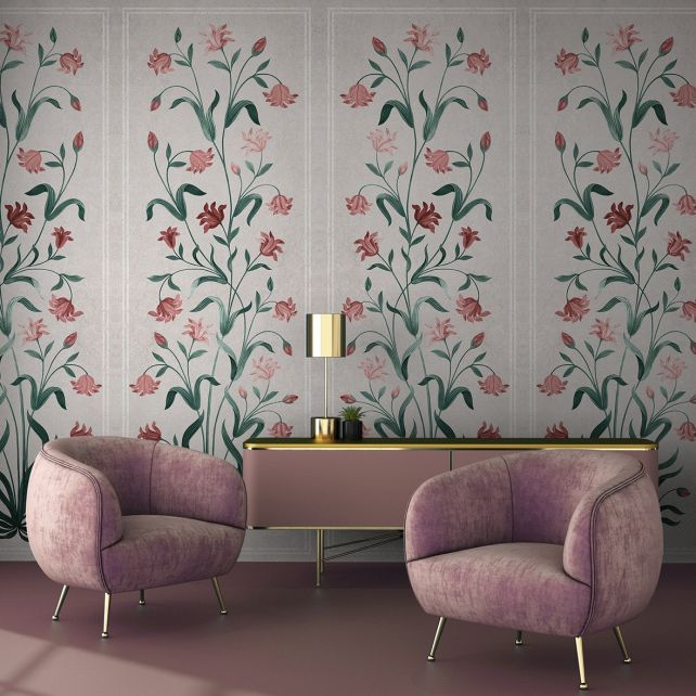 Mural Daffodils Pink