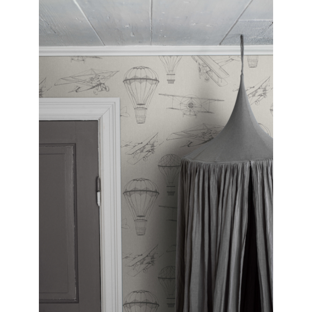 Bon Voyage Beige wallpaper