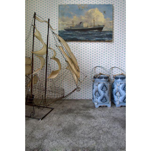wallpaper,Room,Seven,flower,dot,blue,bottom,white