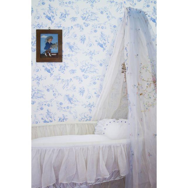 wallpaper,Room,Seven,flowers,angels,cobalt,bottom,white