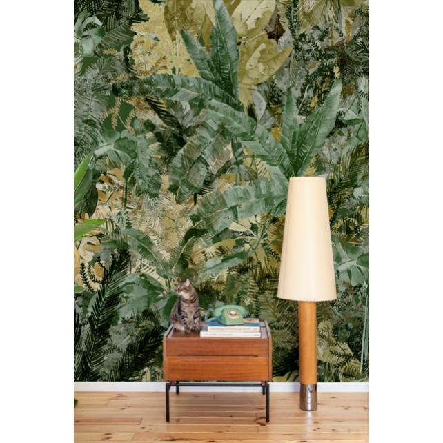 Mural Jungle Dream Forest Green by Lara Costafreda