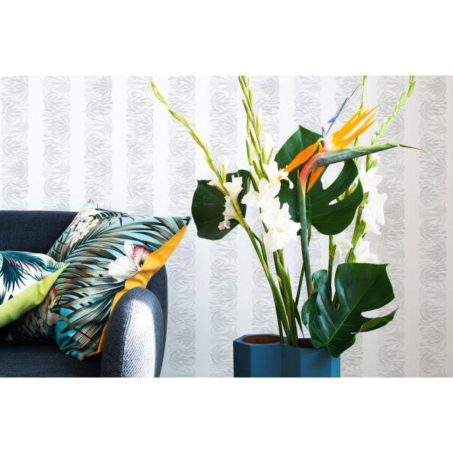 wallpaper wild stripes plant green