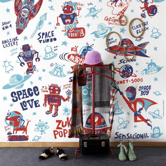 White Robots Mural