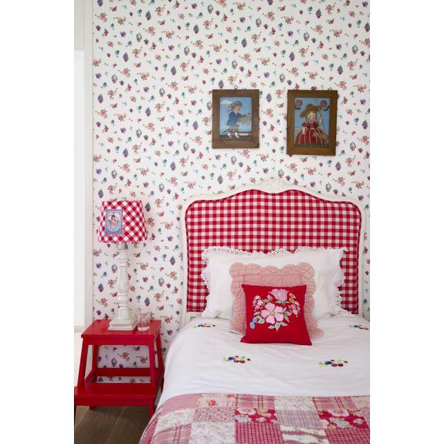 wallpaper,Room,Seven,mix,flowers,beige