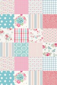 mural,patchwork,pink,turquoise