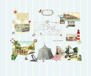 mural,riviera,sea,old,map