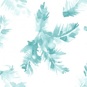 wallpaper palm leave blue