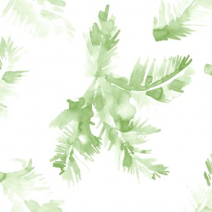 wallpaper palm leave green